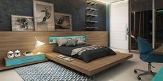 chambre pour ado et décoration de mur moderne