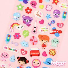 Kawaii Things Puffy Stickers - Stationery | Blippo.com - Japan & Kawaii Shop