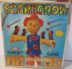 IDEAL: 1975 Scarecrow Target Game #Vintage #Games