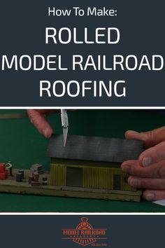 How to Make Rolled Model Railroad Roofing Train Info, Escala Ho, Electric Train Sets, Hobby Lobby Christmas, Model Training, Hobby Trains, Thing 1, Model Train Layouts, Classic Toys