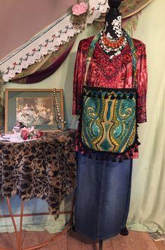 handmade boho bag ethnic purse bohemian style purse paisley tassel trim boho purse crossbody purse gypsy purse Indian theme purse by TheDenimGypsy on Etsy