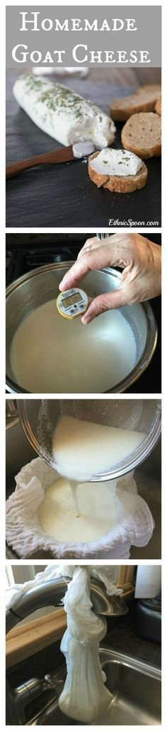 Receta muy sencilla para hacer manualmente queso de cabra!!!
