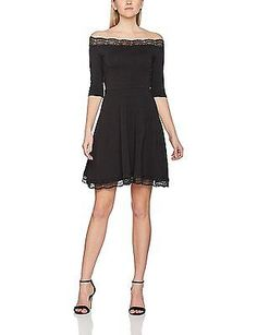 20, Black, Dorothy Perkins Women's Lace Bardot Dress NEW
