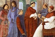 Sleutelfiguur in de gastronomie tijdens de Italiaanse Renaissance was Bartolomeo Sacchi (1421-1481), ook wel Platina genoemd. In 1469 of 1470 publiceerde hij 'De honesta voluptate ac valetudine' (Over eerlijke genoegens en een goede gezondheid). Fresco van Bartolomeo Sacchi (knielende man) in de bibliotheek van het Vaticaan.