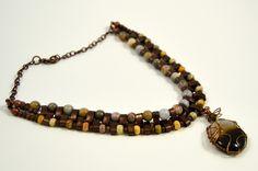 Jewelry - Necklace - Choker Necklace - Black Banded Agate Gemstone Pendant Necklace - Healing Crystals And Stones - Boho Pendant Choker by HarmoniasJewelryBox on Etsy