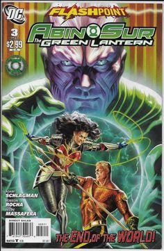 Flashpoint Abin-Sur The Green Lantern #3 VF- 7.5 DC 2011 Schlagman Rocha Aquaman