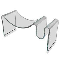 1stdibs.com   Rare Fiam for Pace Bench Bent Glass Bench/Magazine Holder