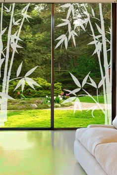 Asian themed wall decals inspired by far east culture. Asian wall decals include buddhas, Japanese maple tree, dolls, bamboo, waterway and more. Etched Glass Door, Glass Front Door, Glass Etching, Asian Wall Decals, Kids Wall Decals, Glass Wall Art, Stained Glass Art, Window Glass Design, Cool Wall Art
