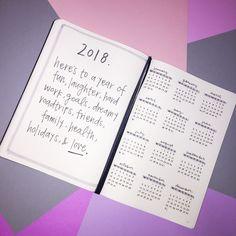 2018 bullet journal start!