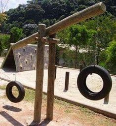 a tire swing teeter-totter? LOVE!!!!