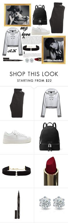 """""""Ashton Kutcher"""" by justinbieber-zaikara ❤ liked on Polyvore featuring Citizens of Humanity, Puma, MICHAEL Michael Kors, Anissa Kermiche and Smith & Cult"""