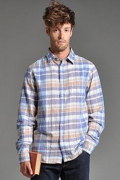 Velour Jules Shirt Blue Plaid