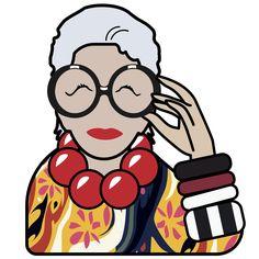 The Iris Apfel Emoji Are Finally in the App Store via @WhoWhatWear