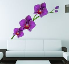 This beautiful orchid sticker is ideal for complementing your room in a minimalist yet striking way. Bright flowers to liven up your home and bring a touch of nature. #Orchid #Flower #Decoration