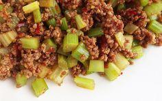 Celery with Ground Lamb Ground Lamb, Wok, Celery, Potato Salad, Potatoes, Dinner, Cooking, Ethnic Recipes, Indian