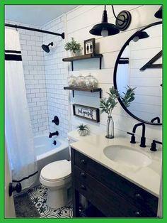 Modern Farmhouse Master Bathroom Renovation with Delta – Farmhouse Bathroom White Bathroom Decor, Bathroom Renos, Bathroom Renovations, Home Remodeling, Remodel Bathroom, Bathroom Interior, Master Bathrooms, Restroom Remodel, Bathroom Mirrors