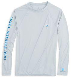 Southern Tide Men's LS Performance T-Shirt Ocean Slate