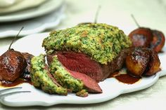 Parsley sage rosemary and thyme roasted venison recipe, Regional Newspapers – I used a Silver Fern Farms Venison Roast and served it with roasted cinnamon tamarillos recipe below - Eat Well (formerly Bite) Rosemary Thyme Recipe, Venison Roast, Venison Recipes, I Want To Eat, Roasting Pan, Silver Fern, Parsley, Sage, Cooking Recipes