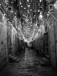 ill travel to where ever there are Christmas lights strewn above the streets, just because.