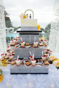 Wedding Dessert Display by Sweet Cheeks Baking Company.