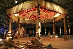 mandap Night Wedding Decor, Indian Wedding Decorations, Budget Wedding, Wedding Planner, Wedding Ideas, Wedding Mandap, Wedding Venues, Mandap Design, Traditional Wedding Decor