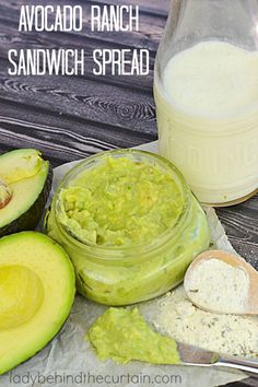 Avocado Ranch Sandwich Spread | A creamy spread made with avocados, buttermilk and ranch dressing mix.