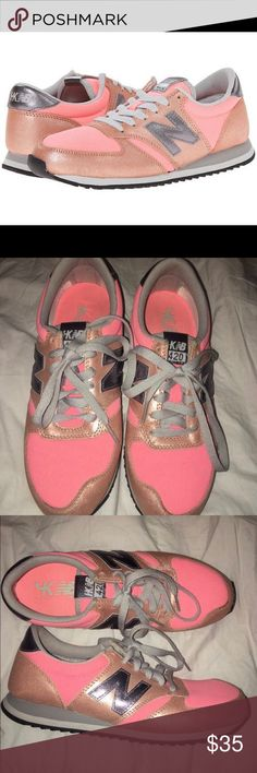 New Balance Coral Heidi Klum 420 Sneakers Pre-owned in excellent condition New Balance Shoes Athletic Shoes