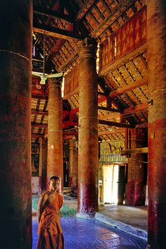 Temple Monk in Laos
