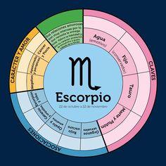 Gráfico zodiaco. Escorpio