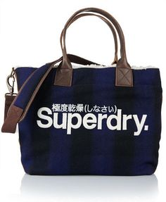 New Womens Superdry Shepard Tote Navy Blue