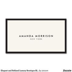 Negro de lujo elegante y refinado del tarjetas de visita