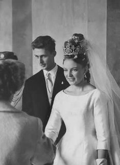 Wedding of Princess Diane of Orléans, (daughter of Henri Count of Paris) and Carl, Duke of Wurttemberg on 21 July 1960 in Altshausen, Germany