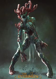 ArtStation - The Everrain - Drowned Man, Bjorn Hurri Monster Concept Art, Fantasy Monster, Monster Art, Dark Creatures, Fantasy Creatures, Mythical Creatures, Arte Zombie, Zombie Art, Creature Concept Art