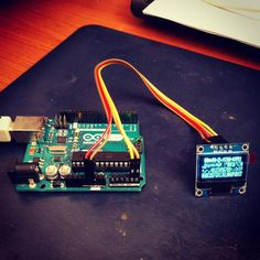 [late night experiments] testing little #oled display on #arduino | #iot #wrk