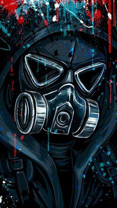 Graffiti Street Art Wallpapers y Graffiti Wallpapers para Cel . Hacker Wallpaper, Dark Wallpaper, Galaxy Wallpaper, Boys Wallpaper, Retro Wallpaper, Gas Mask Art, Masks Art, Gas Masks, Deadpool Wallpaper