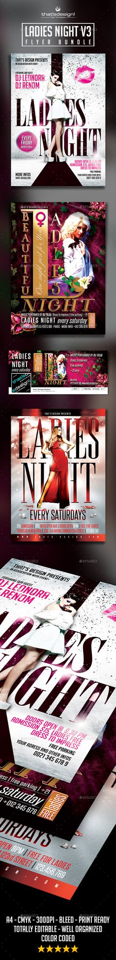 Ladies Night Flyer Poster Template V  Ladies Night Flyer