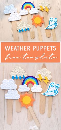 Weather Craft for Kids - Paper Puppets + Free Templates!