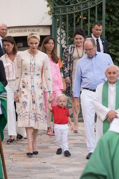 Prince Albert II of Monaco, Prince Jacques, Princess Charlene of Monaco arrive to attend the annual traditional 'Pique Nique Monegasque' on September 10, 2016 in Monaco, Monaco.