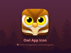 Owl app icon by iconsgarden