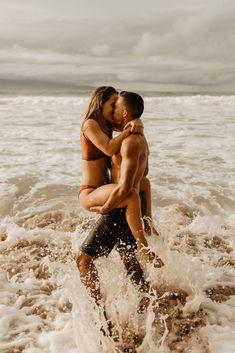 What's better than getting goofy in the water with your love? Nothing, of course! Intimate Photography, Couple Beach, Forest Wedding, Pacific Northwest, Maui, Ted, Wedding Photos, Romantic, Vacation