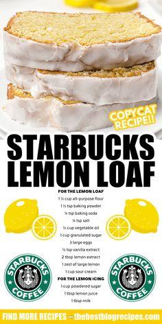 Kid Desserts, Lemon Desserts, Healthy Dessert Recipes, Sweets Recipes, Summer Desserts, Breakfast Recipes, Loaf Recipes, Lemon Recipes, Copycat Recipes