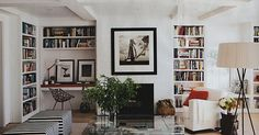 love built in bookcases.