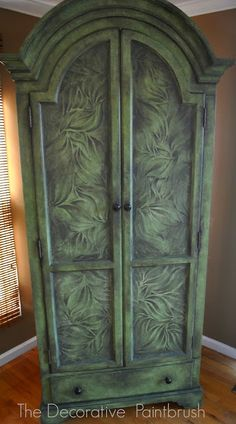 An Armoire with Earthy Appeal - (Step-by-step instructions on the painting technique)