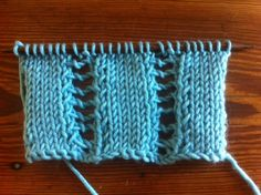 The Open-Work Ladder Stitch :: Knitting :: New Stitch a Day
