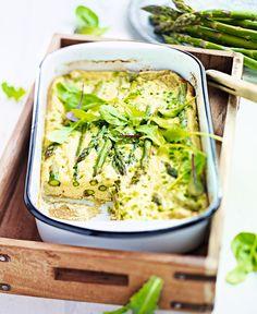 Sparris-frittata (omelett i ugnsform).