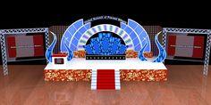 Stage Design by Manoj Sharma at Coroflot.com Tv Set Design, Stage Set Design, Site Design, Stage Backdrop Design, Stage Backdrops, Dj Pult, Dual Screen Wallpaper, Creative Beds, Wedding Stage Design