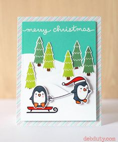penguin merry christmas by debduty - Cards and Paper Crafts at Splitcoaststampers