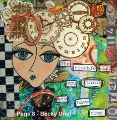 Joanna Grant Mixed Media Art: FINALLY - Great Canadian Art Journal Project Is Done !!!