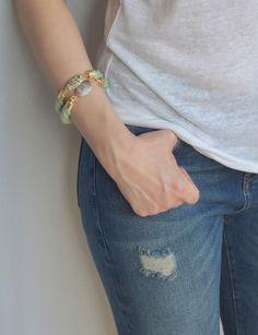 Armbanden - Rope Bracelet With Jasper Gemstone - Een uniek product van Terrafique op DaWanda