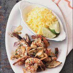 Chef Way Dionicio Jimenez serves the shrimp head-on, alongside Mexican rice.  Easy Way Buy shrimp without the heads on, and ask your fishmonger to b...